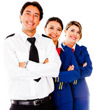 Airplane cabin crew Stock Images