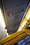 Airplane cabin interior Stock Images