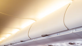 Airplane cabin interior Royalty Free Stock Photography