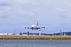 Airplane cargo landing day Stock Image