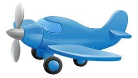Cute Airplane Cartoon. Airplane cartoon. An illustration of a cute blue small or toy aeroplane stock illustration