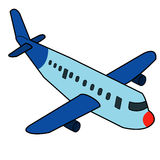 Airplane cartoon vector Royalty Free Stock Image