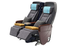 Airplane chairs passenger Stock Photography