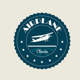 Airplane classic. Over beige background vector illustration Royalty Free Stock Photo
