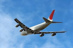 Airplane climbing away Stock Image