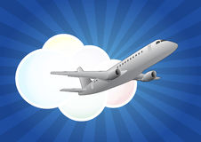 Airplane cloud Stock Photography