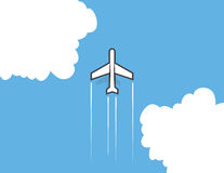 Airplane Clouds Royalty Free Stock Image