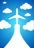 Airplane and clouds illustration design Royalty Free Stock Images