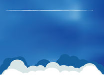 Airplane clouds skyline Royalty Free Stock Photos