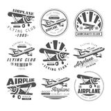 Airplane Club Emblems Royalty Free Stock Images