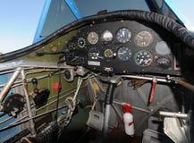 Airplane cockpit stock photography