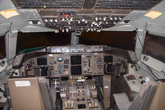 Airplane cockpit Royalty Free Stock Photos
