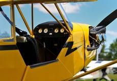Airplane Cockpit. Vintage J3 Piper Cub Cockpit Photo Stock Photos