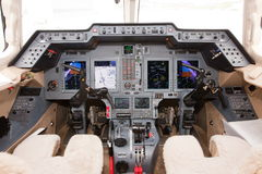 Airplane cockpit Stock Image