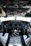 Airplane cockpit of a 737-800 Royalty Free Stock Photo