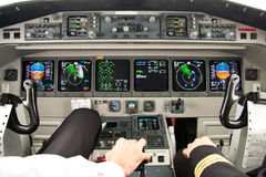 Airplane cockpit-the best office Royalty Free Stock Image