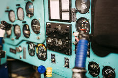Airplane cockpit closeup picture Stock Image