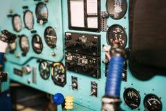 Airplane cockpit closeup picture Stock Image