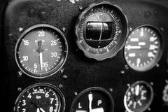 Airplane cockpit closeup picture Stock Photo
