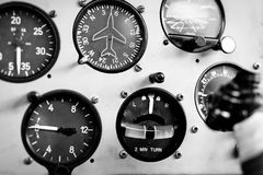 Airplane cockpit closeup picture Royalty Free Stock Photos