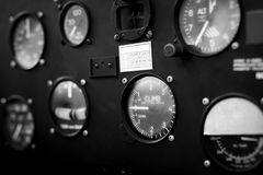 Airplane cockpit closeup picture Stock Photography