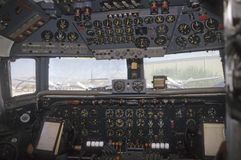 Airplane cockpit of douglas vc liftmaster Stock Photo