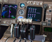 Airplane Cockpit Instruments Royalty Free Stock Photos