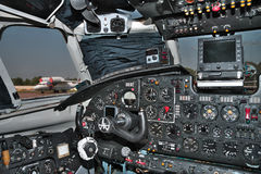 Airplane cockpit Stock Images