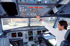 Airplane cockpit Royalty Free Stock Image