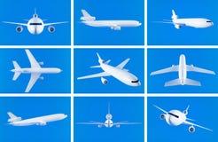 Airplane collage Stock Photos