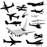 Airplane Collection vector illustration
