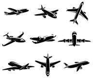 Airplane collection. Vector. Illustration. This is file of EPS8 format Stock Photos