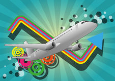 Airplane color graphic Royalty Free Stock Photography