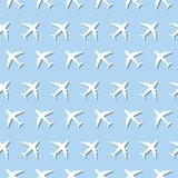 Airplane Commercial Aviation Seamless Sign Pattern Royalty Free Stock Photography
