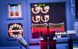 Airplane controls Stock Photography