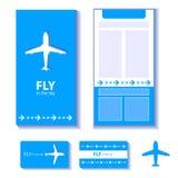 Airplane corporate identity Royalty Free Stock Photo