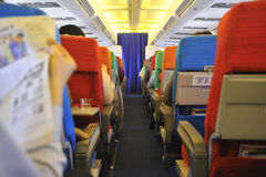 Airplane Corridor Stock Images