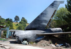 Airplane crash Royalty Free Stock Photos