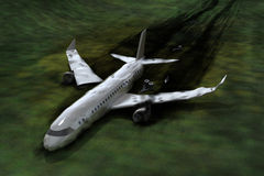 Airplane crash Royalty Free Stock Images