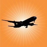 Airplane crash Royalty Free Stock Photography