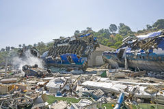 Airplane crash Royalty Free Stock Photo