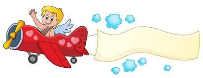 Airplane with Cupid theme image 3 Stock Photos