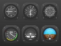 Airplane dashboard Stock Photo