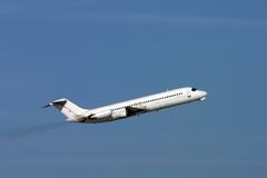 Airplane DC9. DC-9-32 short after takeoff Royalty Free Stock Photography