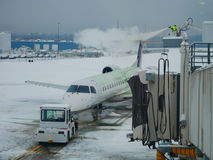Airplane deicing royalty free stock images