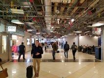 Airplane Delta terminal stock photo