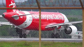 Airplane departure from Phuket airport stock video