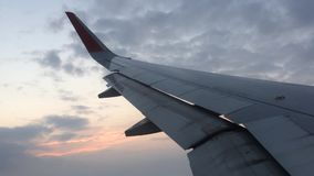 Airplane descending for landing stock footage