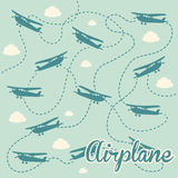 Airplane. Design over blue background vector illustration Stock Photo