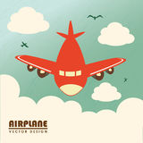 Airplane design Royalty Free Stock Image